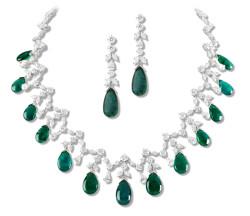 emerald set earring and necklace III