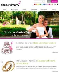 Titelseite shopandmarry.de